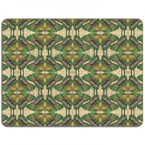 Green Butterfly Rectangle Placemat