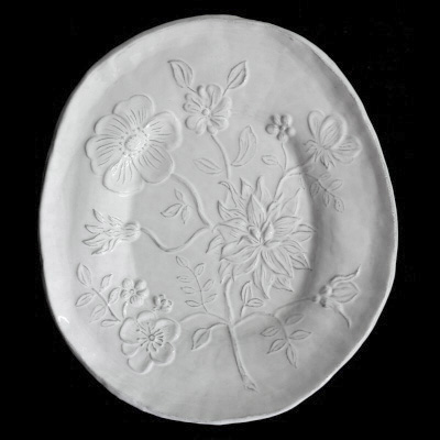 Astier De Villatte Fleurs Bunch of Flowers Large Platter