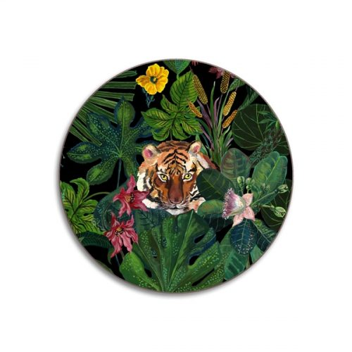 Tiger Round Coasters - Set of 4