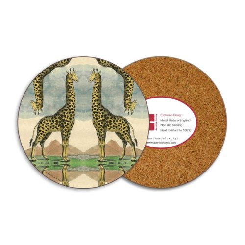 Giraffe Round Coasters - Set of 4