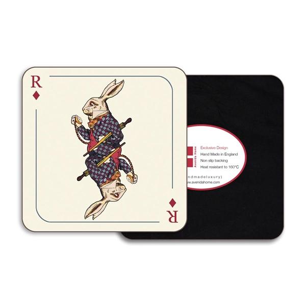 Rabbit Square Coasters - Set of 4