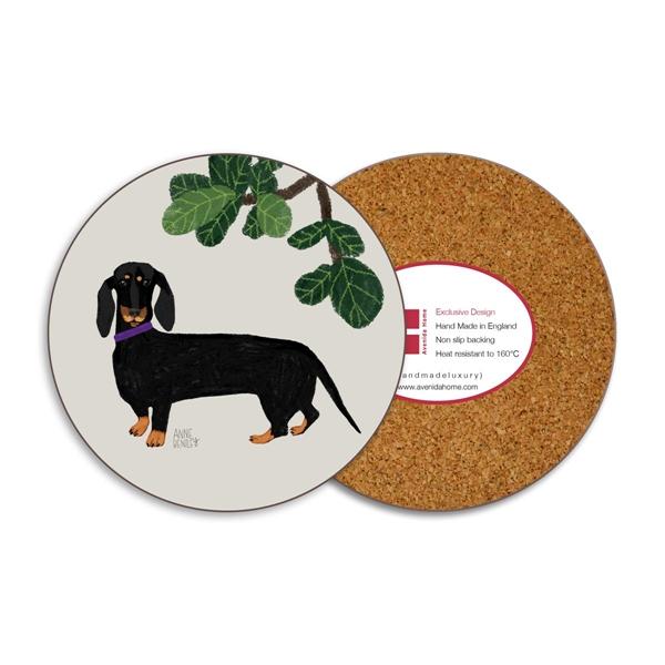 Dachshound Dog Round Coasters - Set of 4