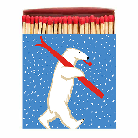Luxury Matchbooks - Skiing Bear