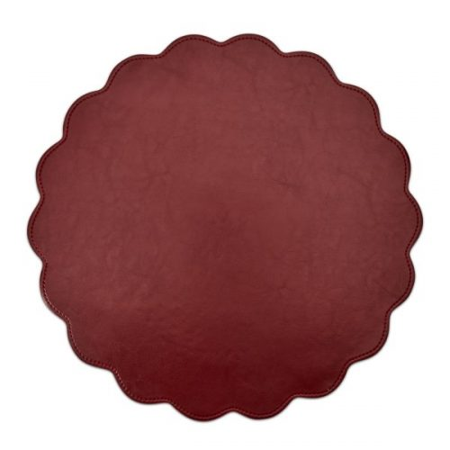 Classic Faux Leather Placemat Bordeaux- Set of 2