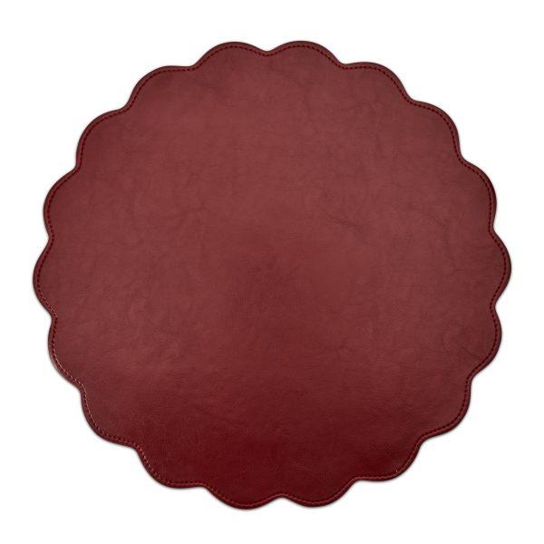 Classic Faux Leather Placemat Bordeaux- Set of 2