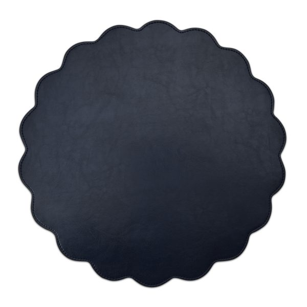 Classic Faux Leather Placemat Navy- Set of 2