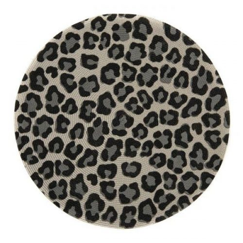 "Mod Cheeta Print 15"" Round Placemat - Set of 2"