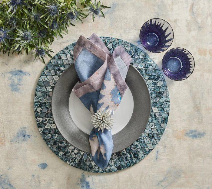 Foliage In Blue & Gray Napkin - Set of 2