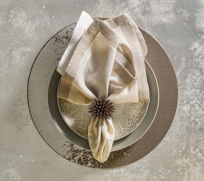 Metafoil In Taupe & Silver Placemat - Set of 2