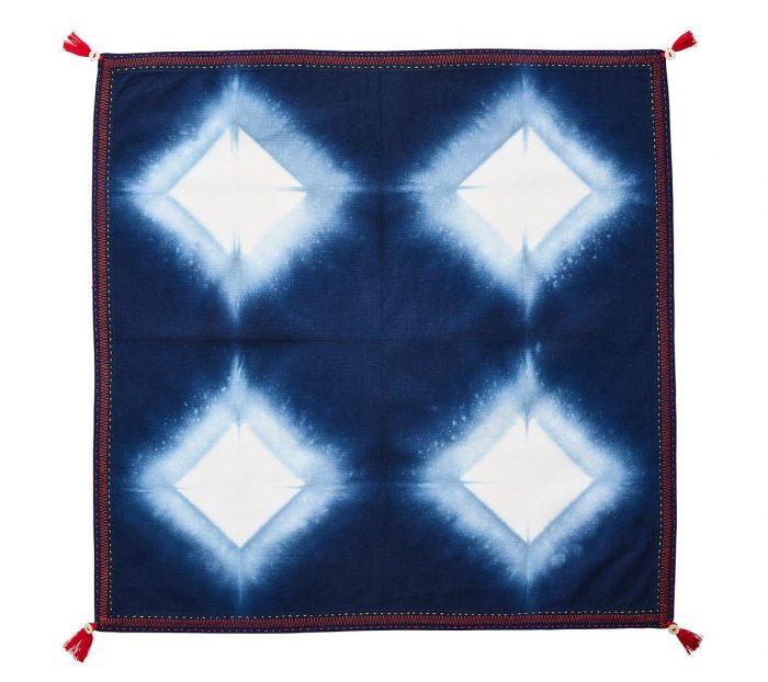 Diamond Ray In Blue Napkin - Set of 2