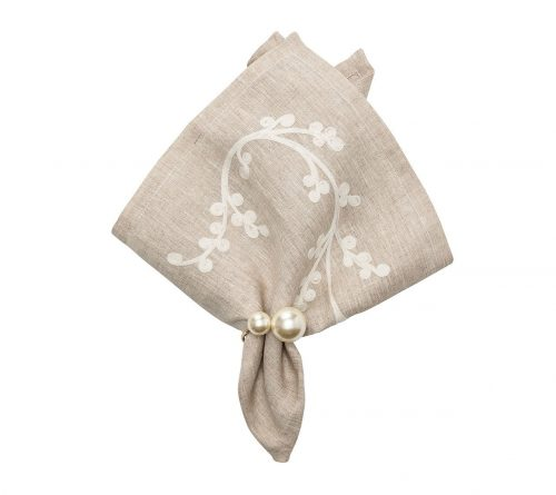 Sakura In Natural & Ivory Napkin - Set of 2