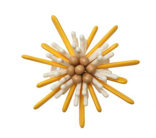 Kim Seybert Napkin Ring Capri in Yellow & White-Set of 2