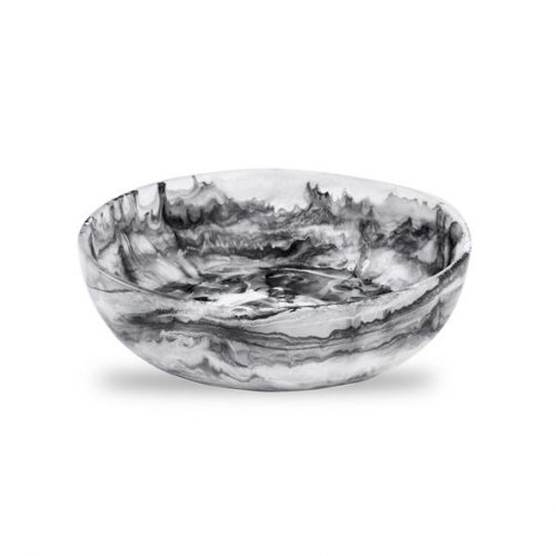Signature Collection-Round Bowl Medium-Black Swirl