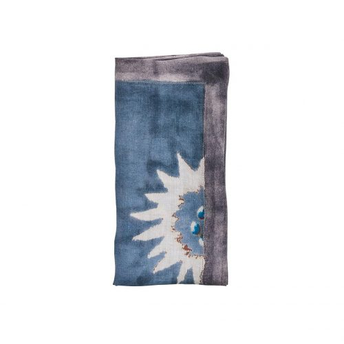 Foliage In Blue & Gray Napkin - Set of 2
