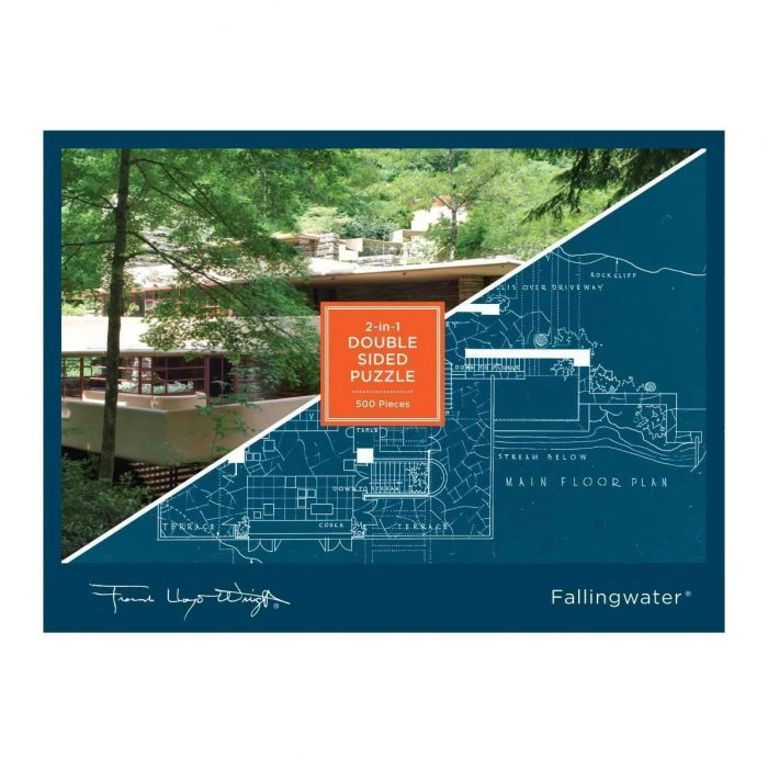 Frank Lloyd Wright Fallingwater Double Sided 500 Piece Puzzle