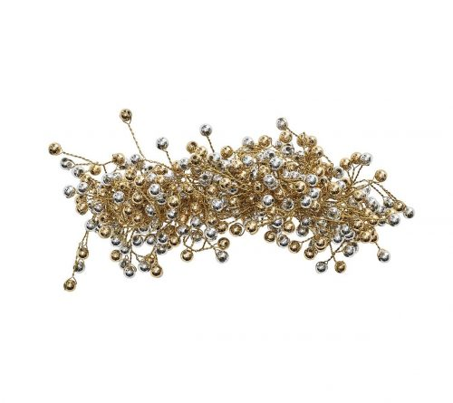 Kim Seybert Napkin Ring Spray Gold & Silver - Set of 2