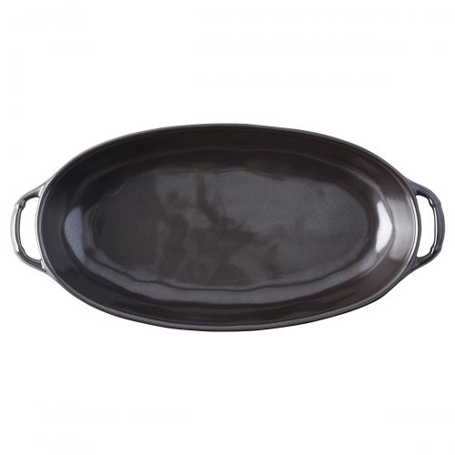 "Juliska Pewter Stoneware 12.5"" Shallow Baker"