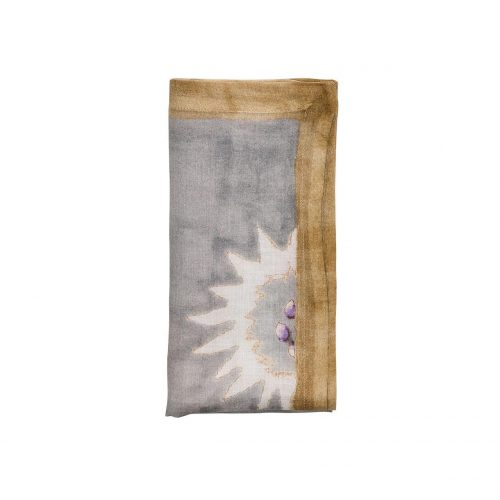 Foliage In Natural & Gray Napkin - Set of 2
