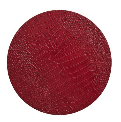 Croco Red Placemat - Set of 2