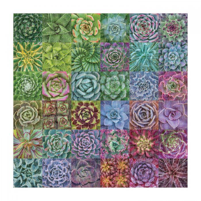 Succulent Spectrum 500 Piece Jigsaw Puzzle