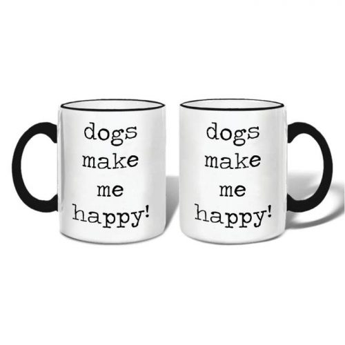 Mugs-Dogs Make Me Happy