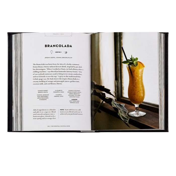 The Essential Cocktail Book Genuine Leather