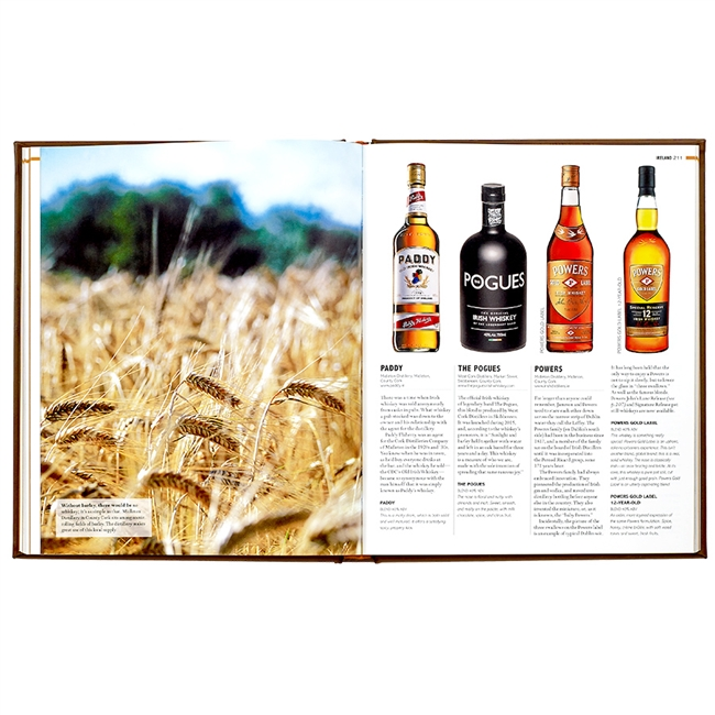 World Whiskey Book Brown Genuine Leather