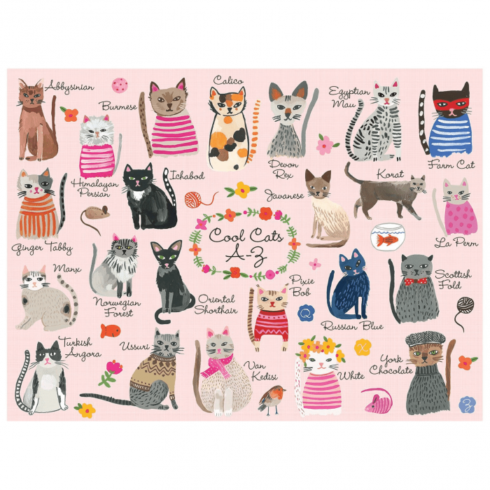 Cool Cats A-Z 1000 Piece Jigsaw Puzzle