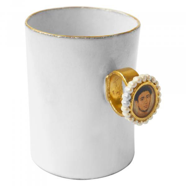 Fayum Gentleman Portrait Ring Cup