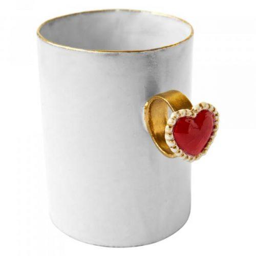 Astier De Villatte Heart Ring Cup
