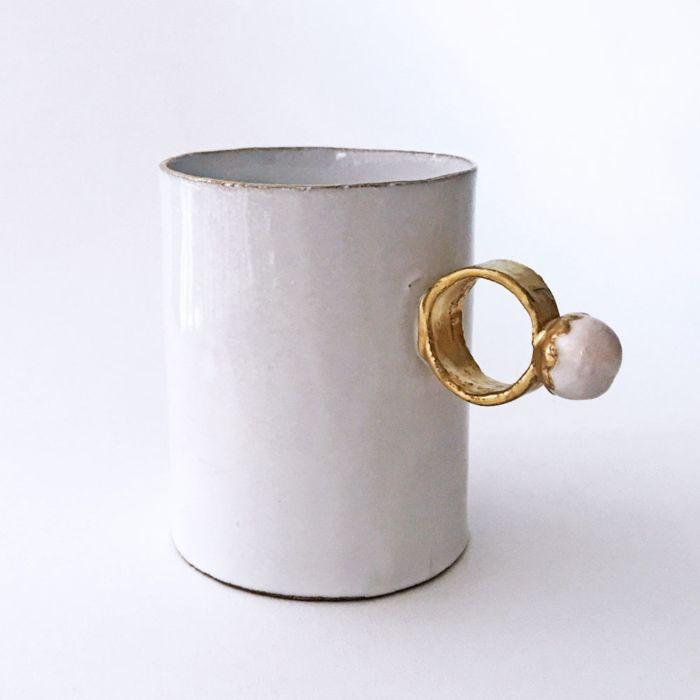 Astier De Villatte Serena Pearl Ring Cup