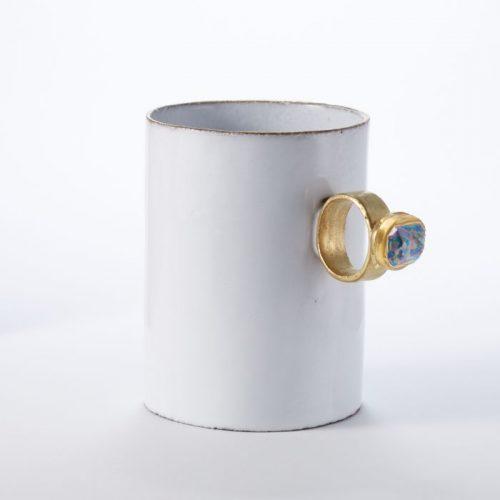 Astier De Villatte Serena Saphire Ring Cup