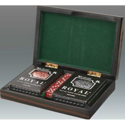 Italian Designed Wood Ebony Card Set