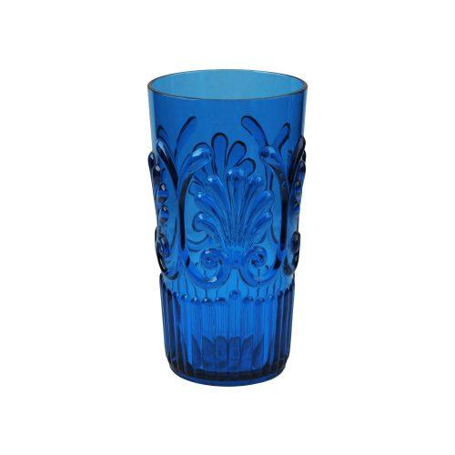 Le Cadeaux Blue Fleur Large Tumbler 24oz