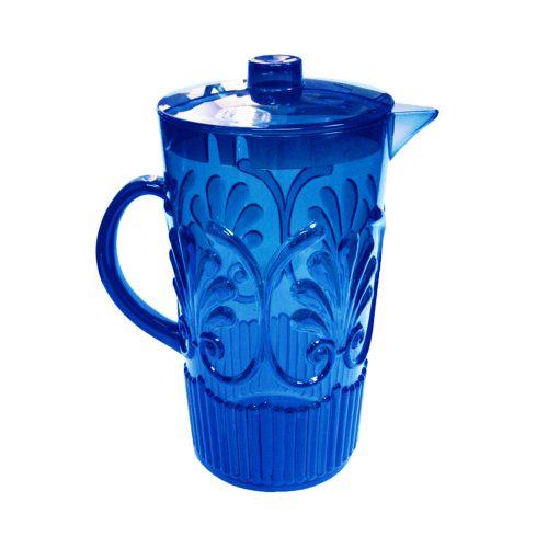 Le Cadeaux Blue Fleur Pitcher 84oz