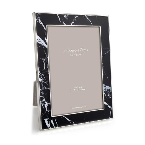 "Black Marble Photo Frame 5""x7"""