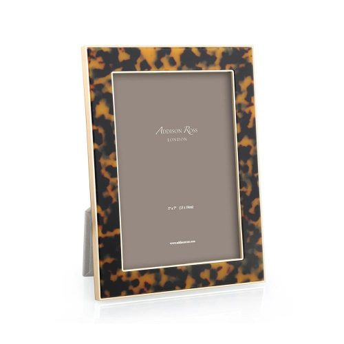 "Tortoiseshell and Gold Photo Frame 5""x7"""