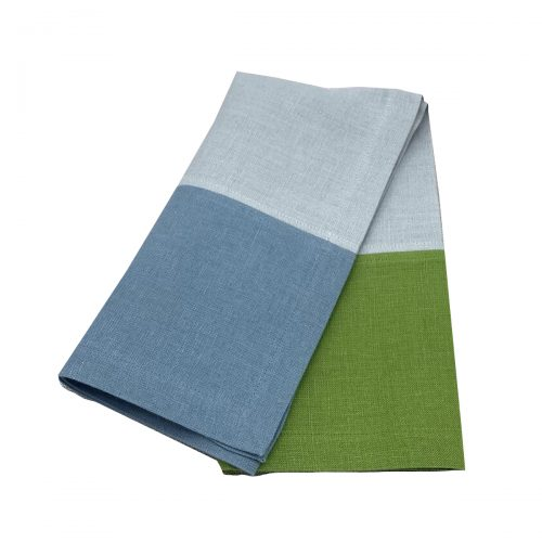 3 Color Block Lime and Blues Napkin