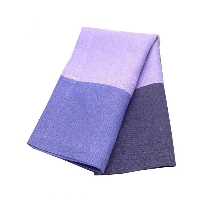 3 Color Block Shades of Purple Napkin - Set of 2