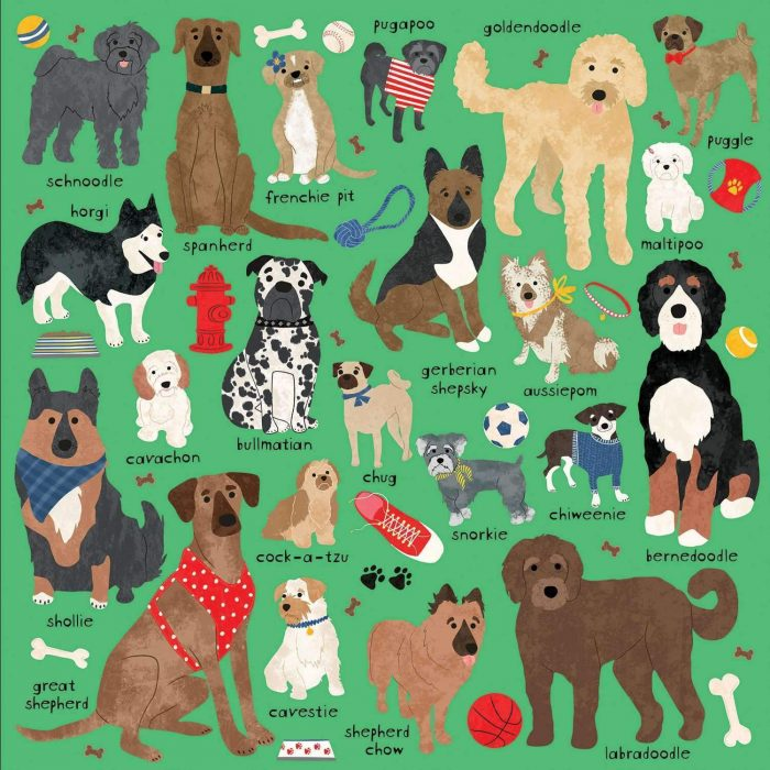 Doodle Dog And Other Mixed Breeds 500 Piece Jigsaw Puzzle
