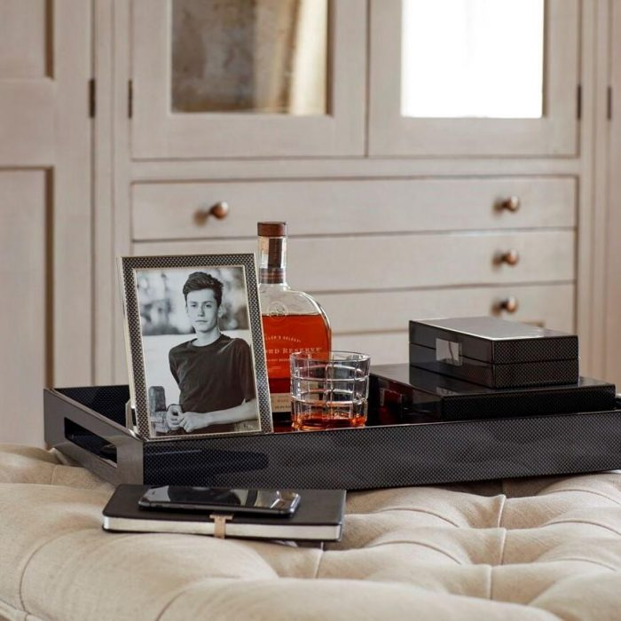 Carbon Fibre Lacquered Ottoman Large Tray