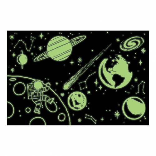 Outer Space Glow In The Dark Puzzle 1000 Piece Jigsaw Puzzle