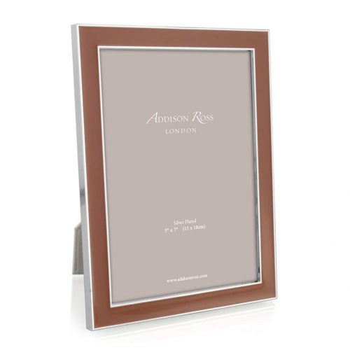 "Terracotta and Silver Photo Frame 5""x7"""