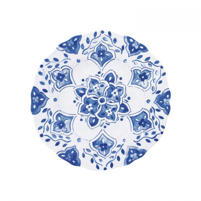 "Le Cadeaux Moroccan Melamine Benidorm 9"" Salad Plate - Set of 2"