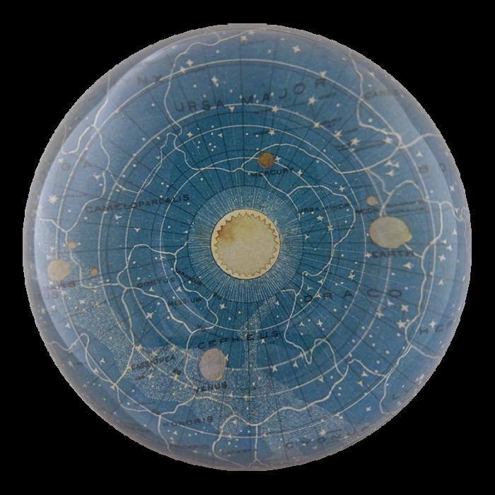 John Derian - Blue Universe Dome Paperweight