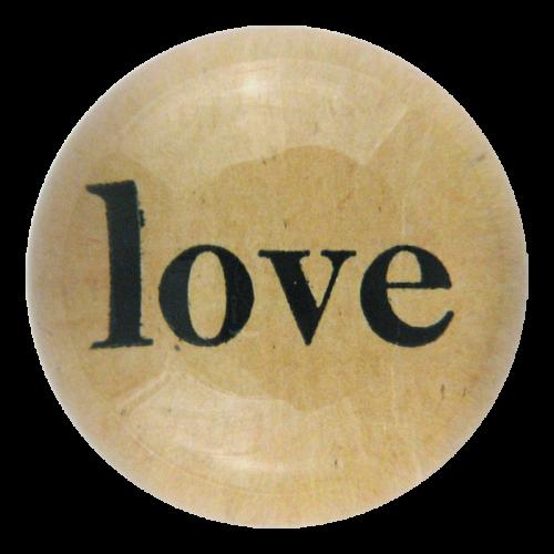 John Derian - Love Dome Paperweight