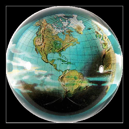 John Derian - World (Globe) Dome Paperweight