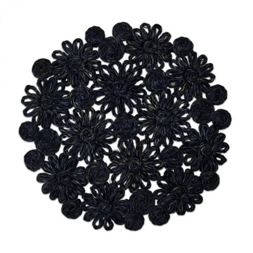 Floral Abaca Navy Placemats - Set of 2