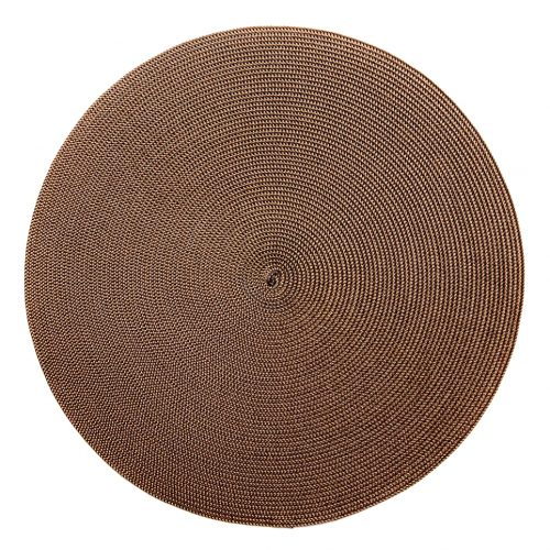 Round Gold/Brown Placemats - Set of 2
