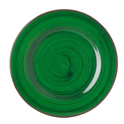 """Mario Luca Giusti - """"Saint Tropez"""" Melamine Dinner Plate, Green"""